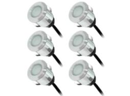 Kit spot LED terrasse 6x0.6W - encastré de sol - éclairage domestique - ECO ENERGIE