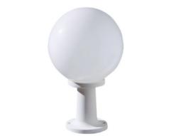 Borne basse Luna E27 blanc verre opale 100W - borne LED - éclairage domestique - ECO ENERGIE